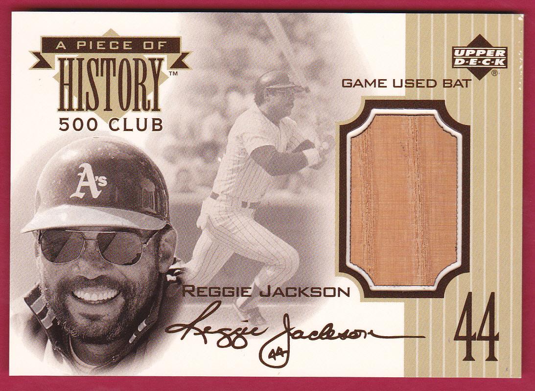 1999 Upper Deck A Piece of History 500 Club #RJ Reggie Jackson