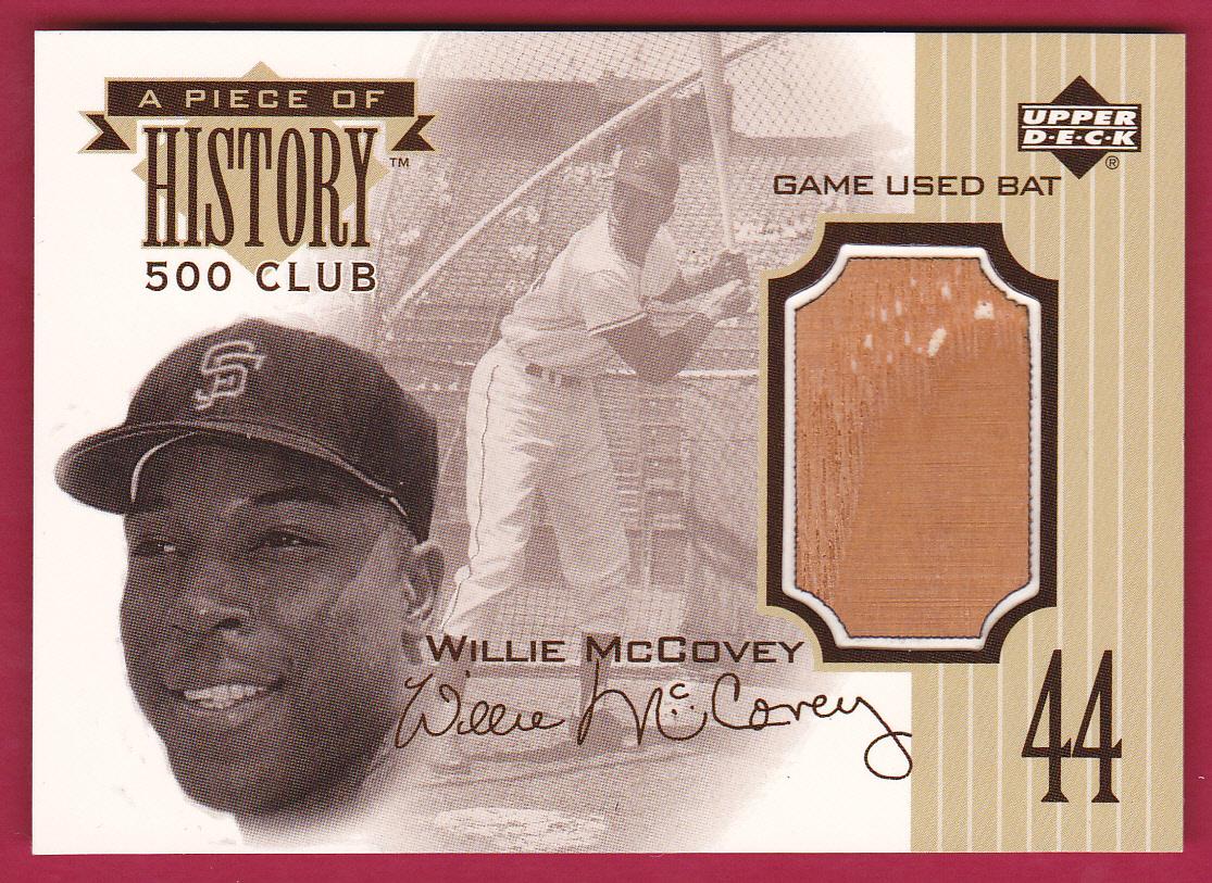 1999 Upper Deck A Piece of History 500 Club #WM Willie McCovey