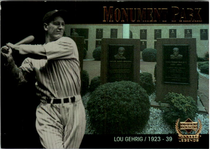 2000 Upper Deck Yankees Legends Monument Park #MP1 Lou Gehrig
