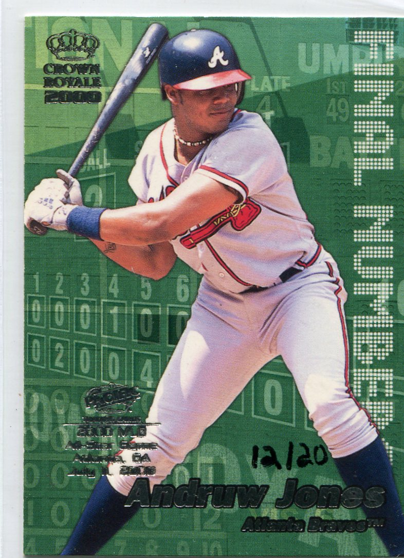 2000 Crown Royale Final Numbers FanFest #2 Andruw Jones