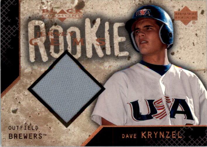 2000 Black Diamond Rookie Edition #124 Dave Krynzel JSY RC