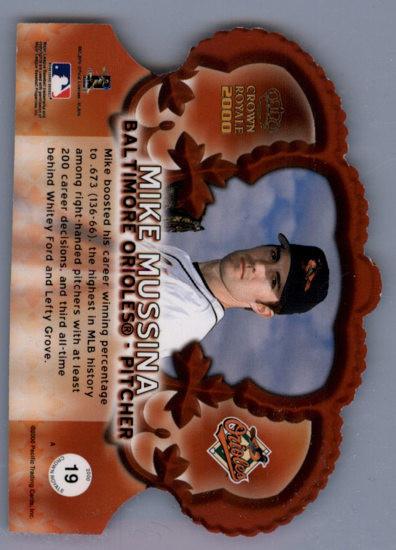 2000 Crown Royale Premiere Date #19 Mike Mussina back image