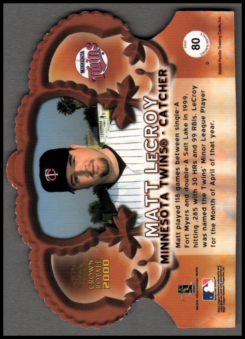 2000 Crown Royale Premiere Date #80 Matt LeCroy back image