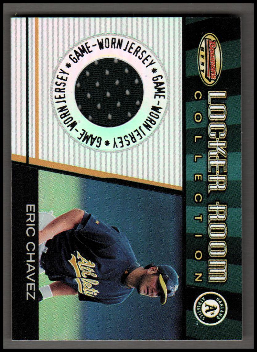 2001 Bowman's Best Locker Room Collection Jerseys #LRCJEC Eric Chavez