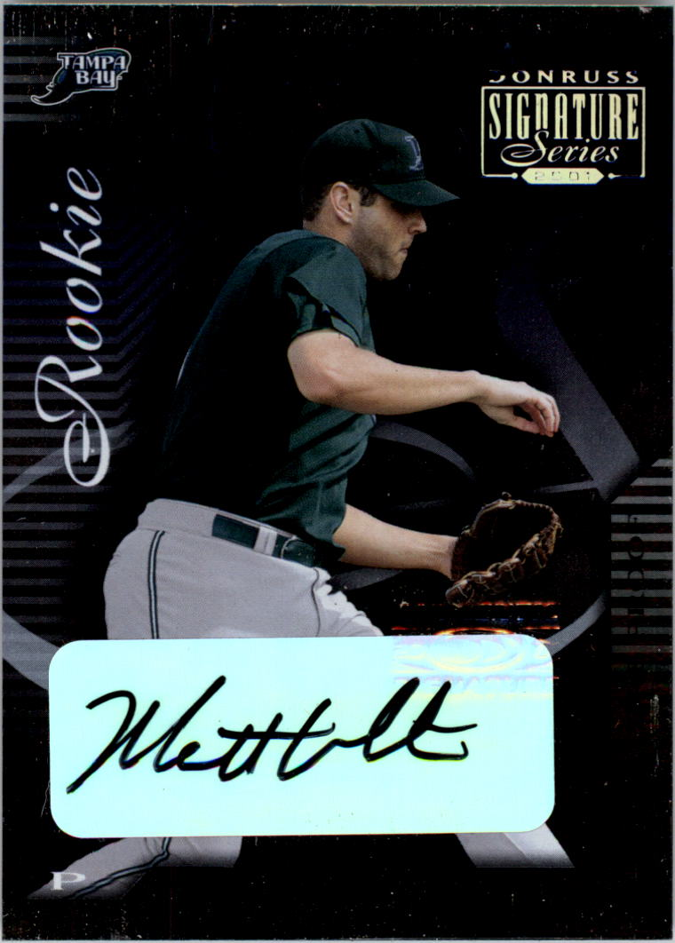 2001 Donruss Signature Proofs #150 Matt White AU