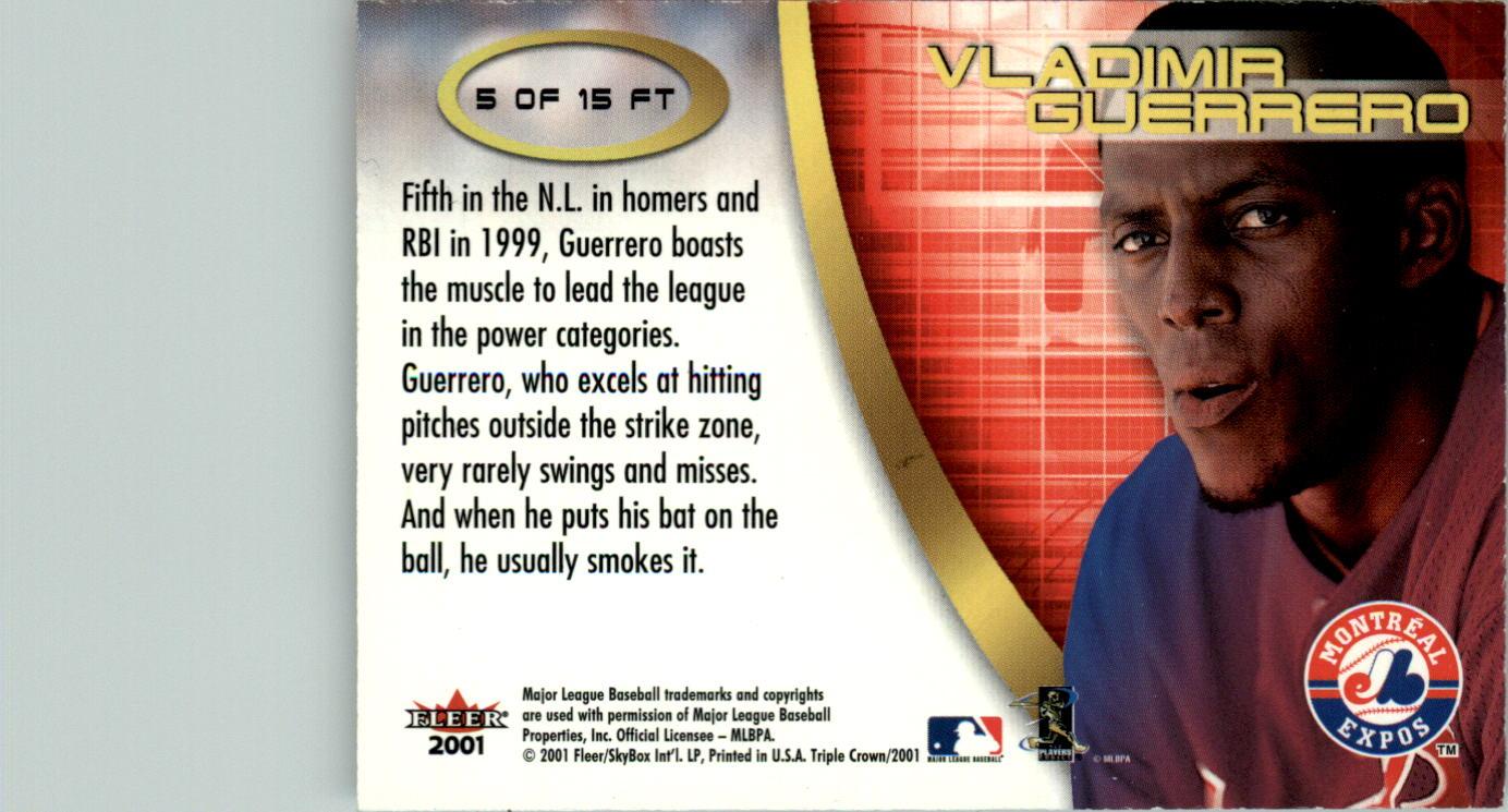 2001 Fleer Triple Crown Future Threats #5 Vladimir Guerrero back image