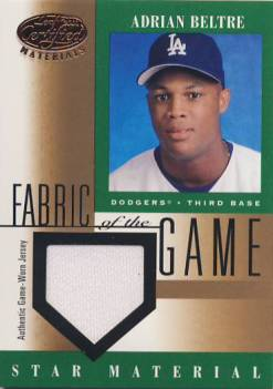 2001 Leaf Certified Materials Fabric of the Game #104BA Adrian Beltre