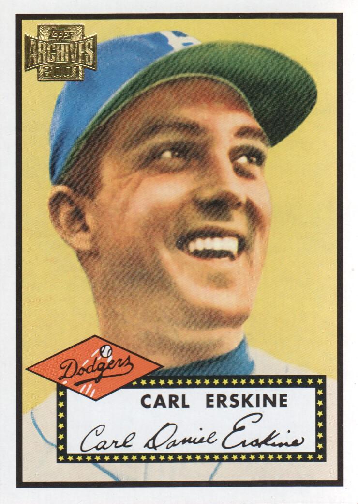 2001 Topps Archives #4 Carl Erskine 52