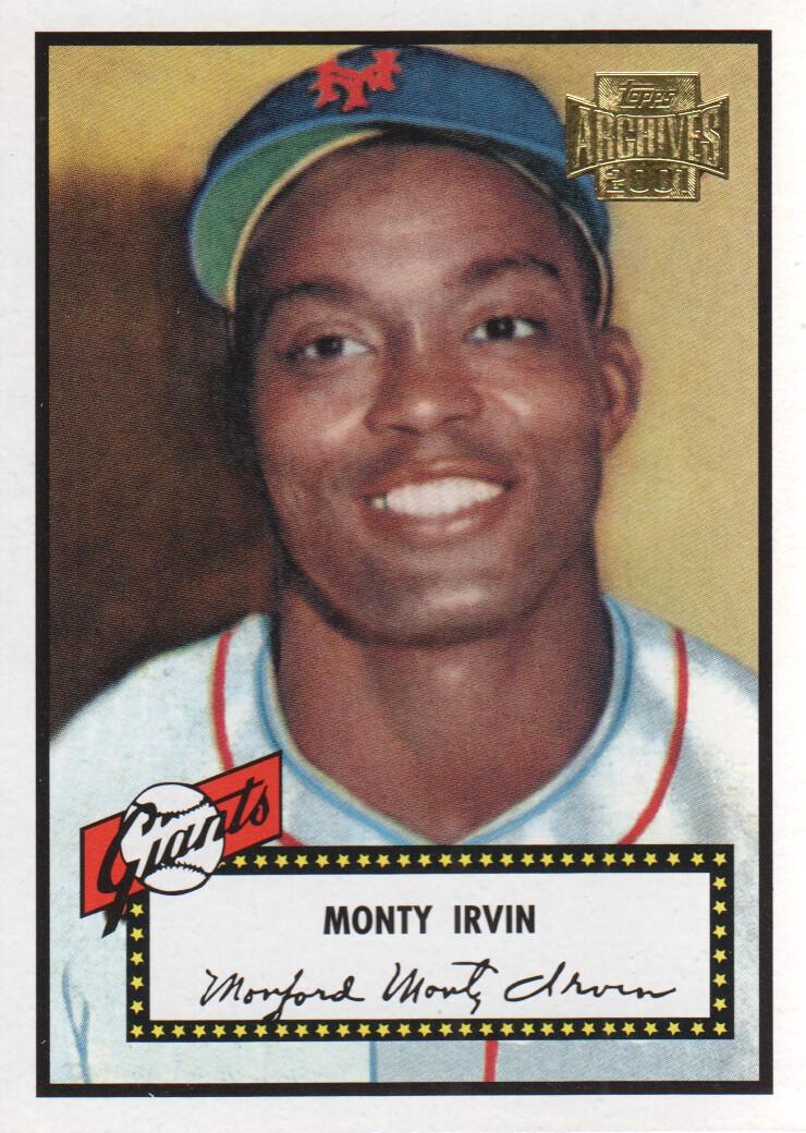 2001 Topps Archives #6 Monte Irvin 52