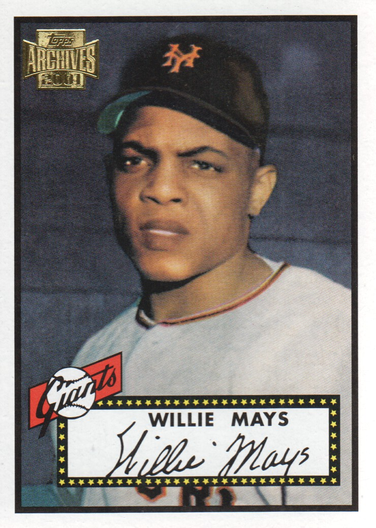 2001 Topps Archives #9 Willie Mays 52
