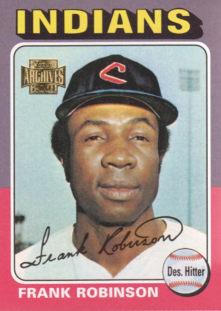 2001 Topps Archives #139 Frank Robinson 75