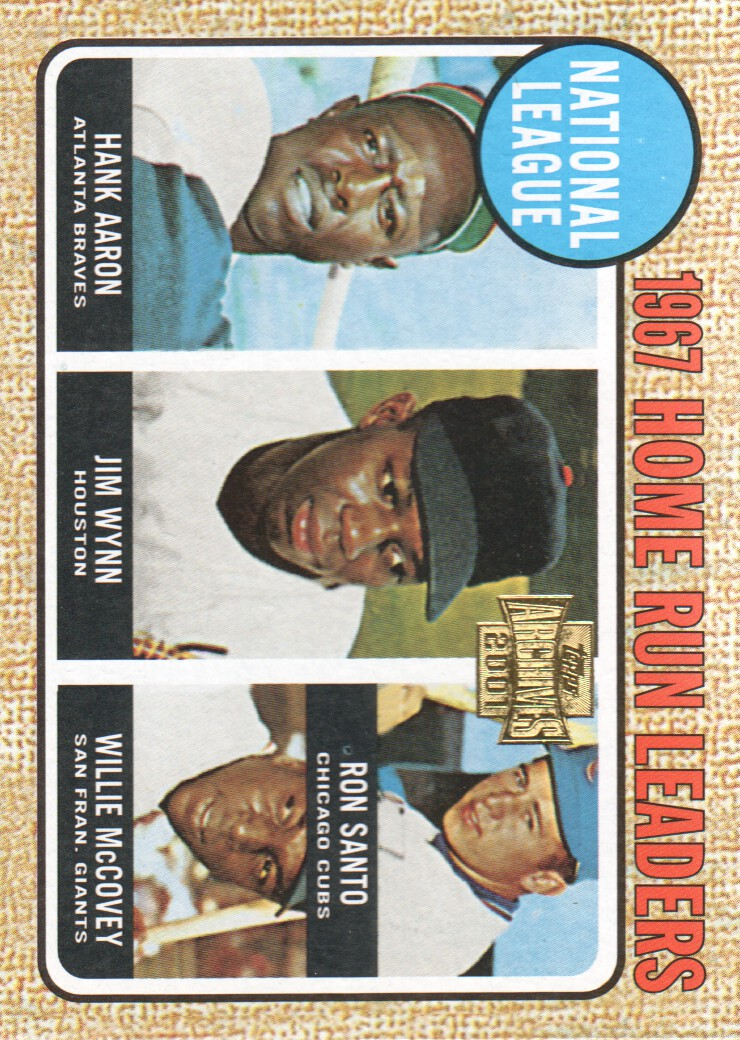2001 Topps Archives #207 NL HR Leaders 68