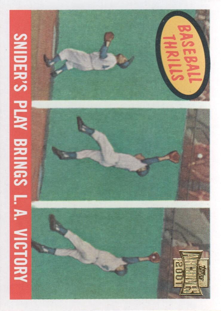 2001 Topps Archives #218 Duke Snider 59 Thrill