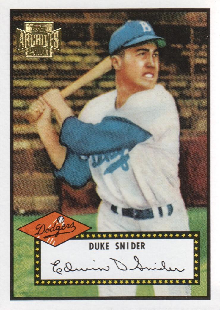 2001 Topps Archives #239 Duke Snider 52