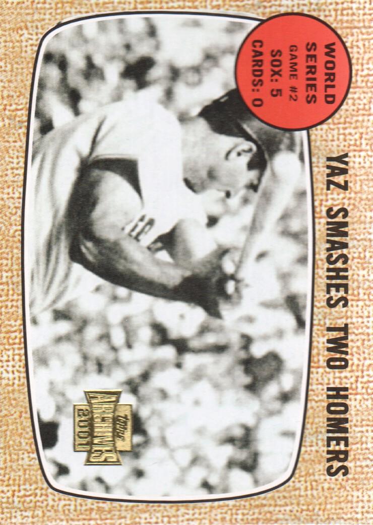 2001 Topps Archives #439 Carl Yastrzemski WS2 68