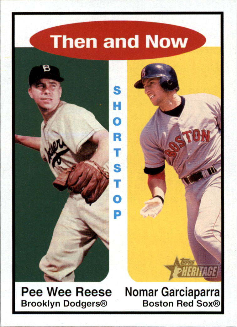 2001 Topps Heritage Then and Now #TH5 P.Reese/N.Garciaparra
