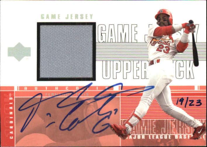 2001 Upper Deck Game Jersey Autograph Numbered #CFT Fernando Tatis/23