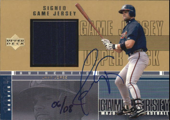 2001 Upper Deck Game Jersey Autograph Numbered #CJL Javy Lopez/8
