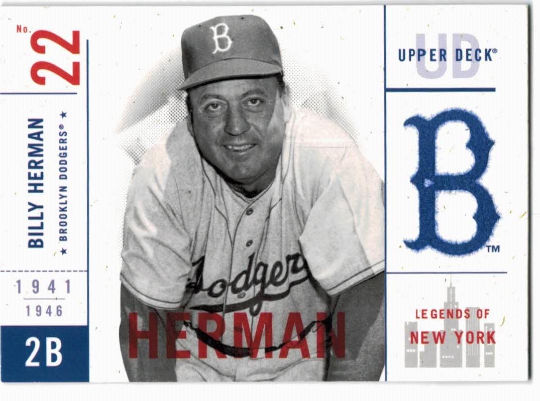 2001 Upper Deck Legends of NY #1 Billy Herman