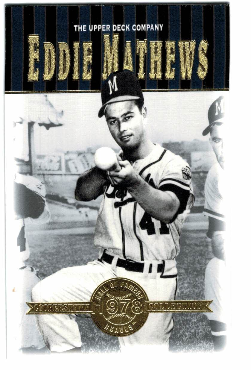2001 Upper Deck Hall of Famers #3 Eddie Mathews