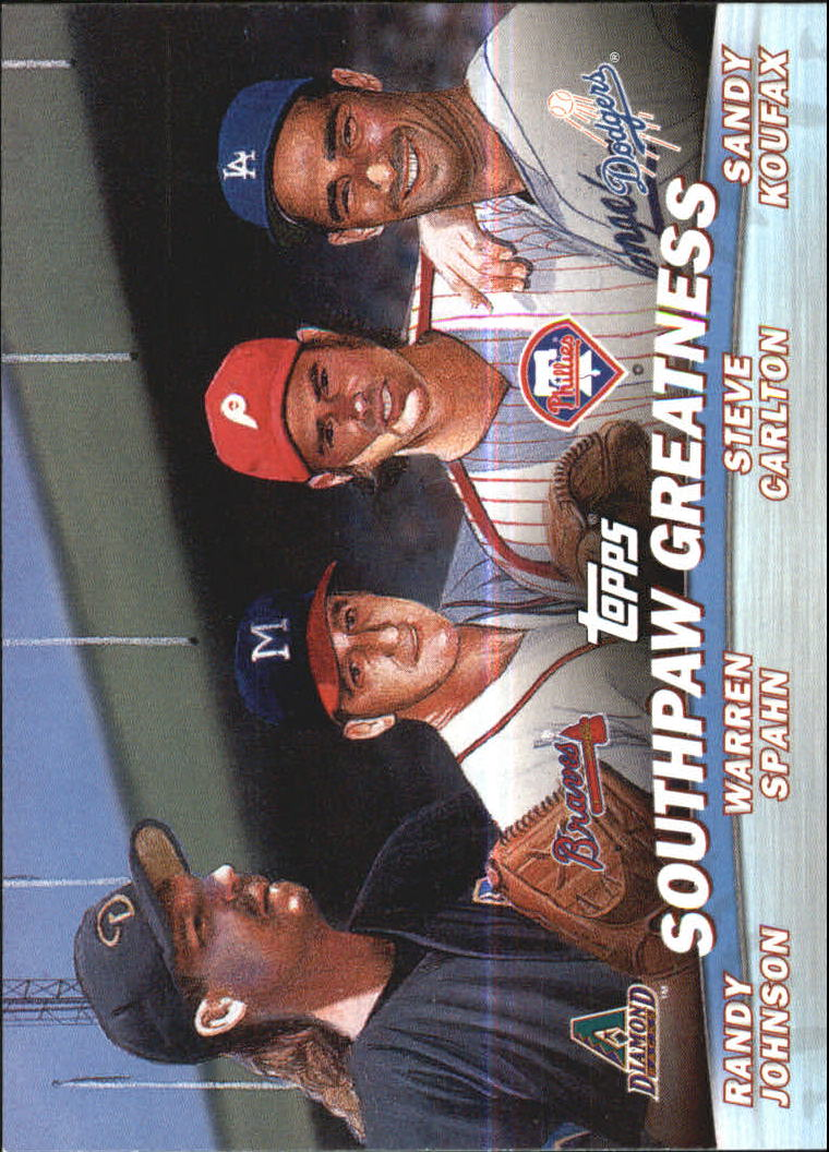 2001 Topps Combos #TC17 Southpaw Greatness