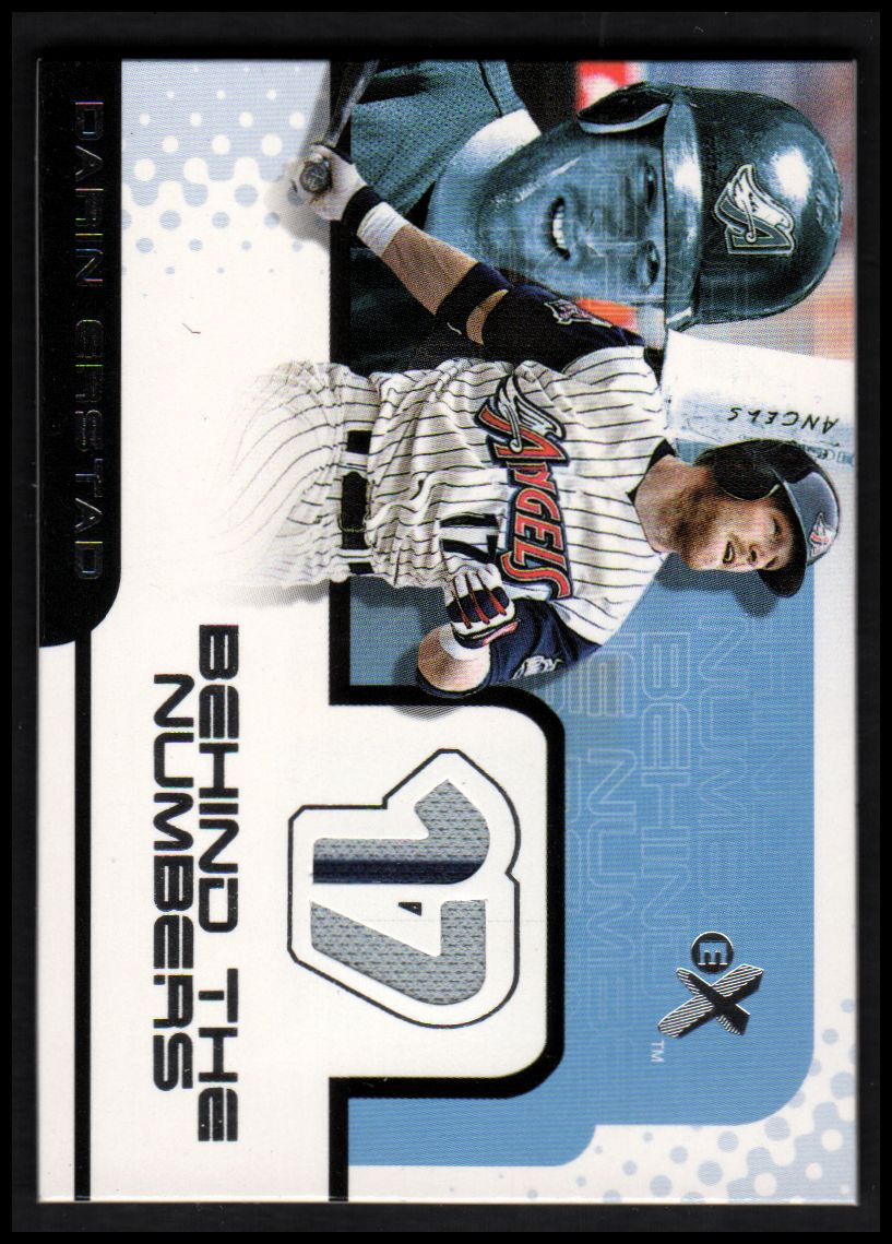 2001 E-X Behind the Numbers Game Jersey #BH28 Darin Erstad