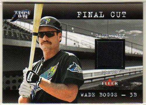 2001 Fleer Genuine Final Cut #1 Wade Boggs