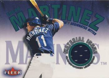 2001 Fleer Genuine Material Issue #EM Edgar Martinez SP *
