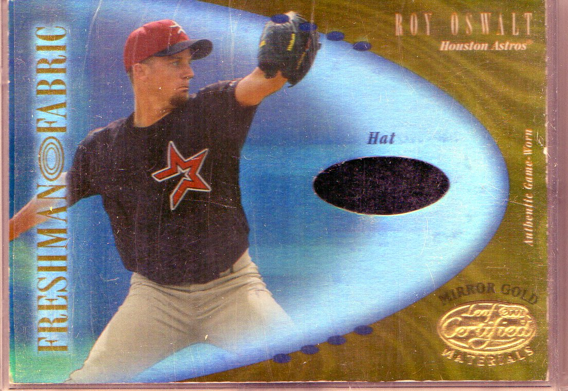 2001 Leaf Certified Materials Mirror Gold #127 Roy Oswalt FF Spikes