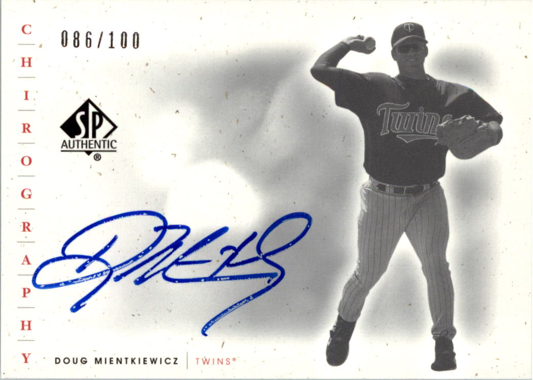 2001 SP Authentic Chirography Update Silver #SPDM Doug Mientkiewicz