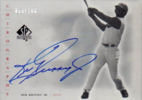 2001 SP Authentic Chirography Update Silver #SPKG Ken Griffey Jr.
