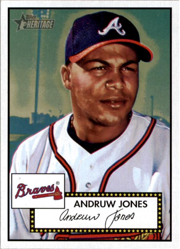 2001 Topps Heritage #72 Andruw Jones Black