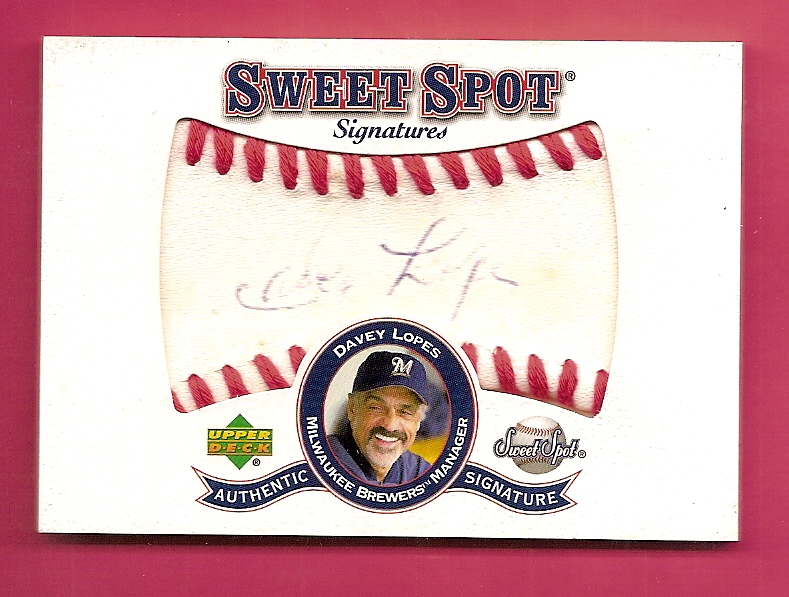 2001 Sweet Spot Signatures #SDL Davey Lopes