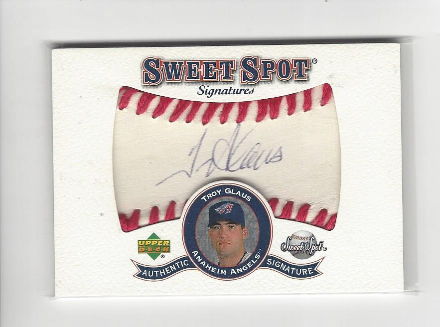 2001 Sweet Spot Signatures #STGL Troy Glaus