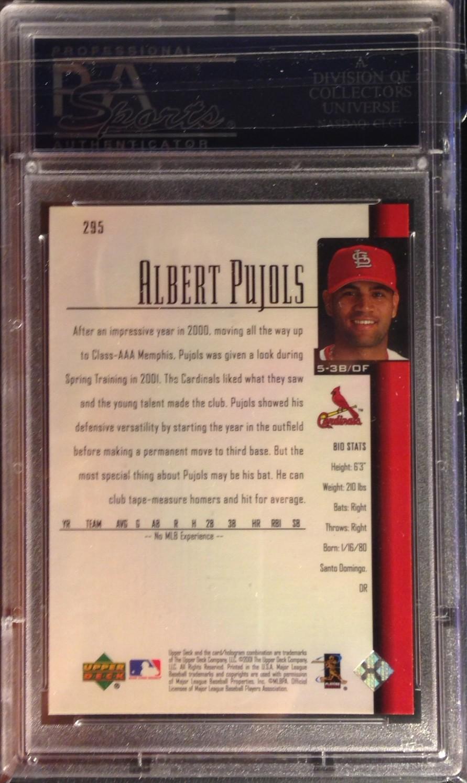 2001 Upper Deck #295 Albert Pujols SR RC back image