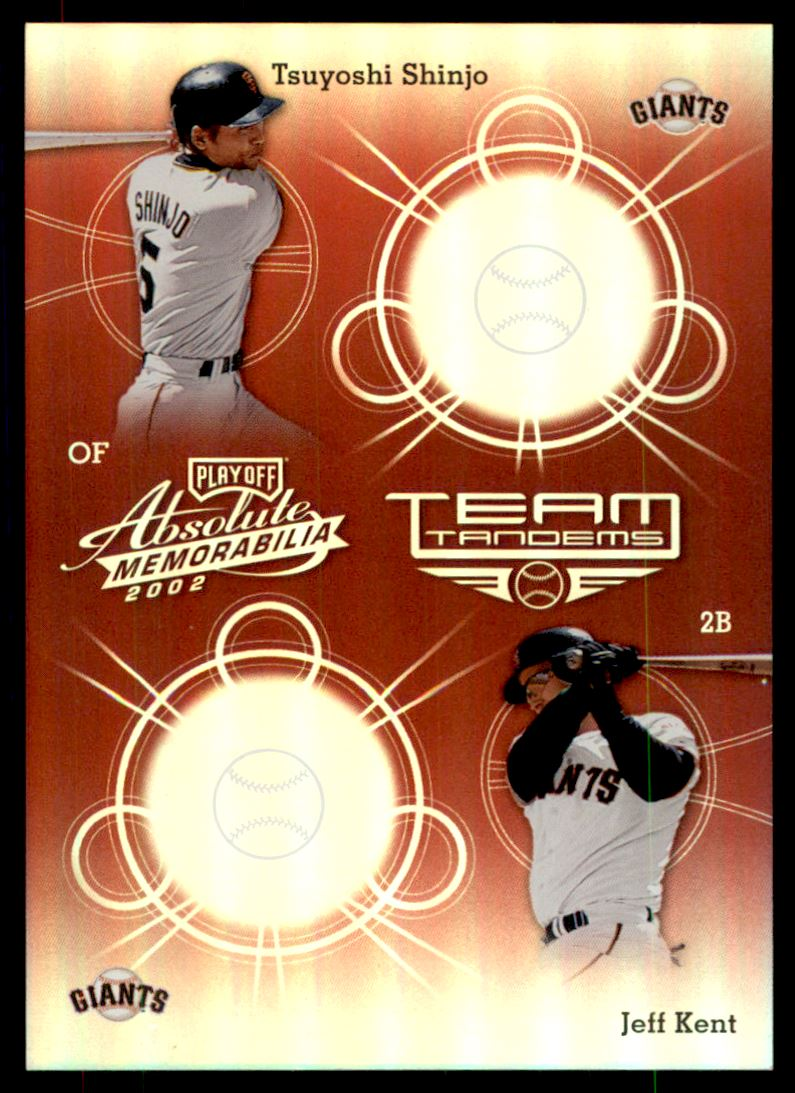 2002 Absolute Memorabilia Team Tandems Spectrum #TT37 J.Kent/T.Shinjo