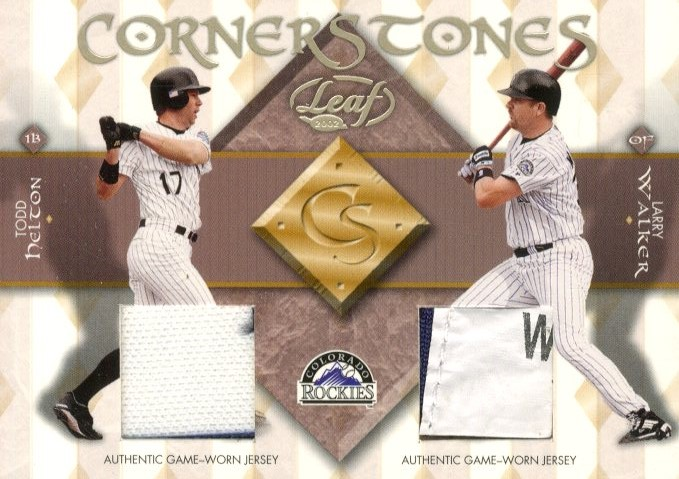 2002 Leaf Cornerstones #6 Larry Walker/Todd Helton