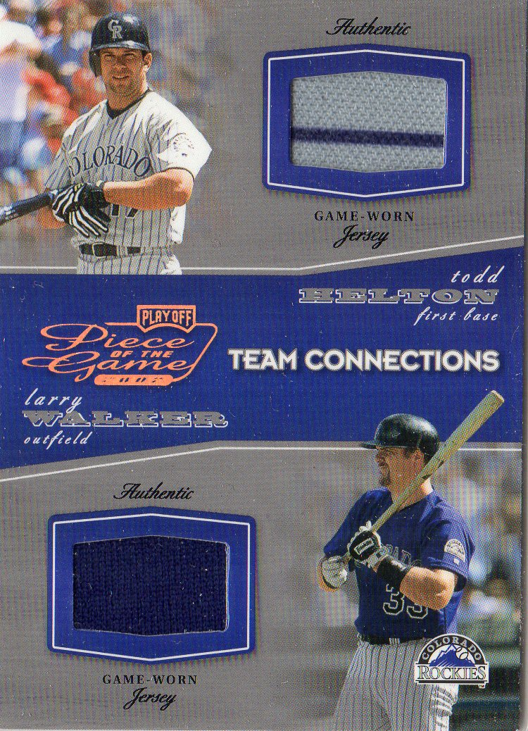 2002 Playoff Piece of the Game Materials Bronze #94 Todd Helton Jsy/Larry Walker Jsy
