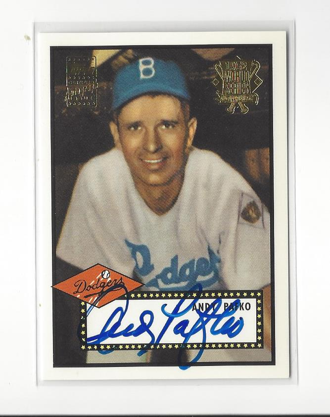2002 Topps '52 Reprints Autographs #APA Andy Pafko S1