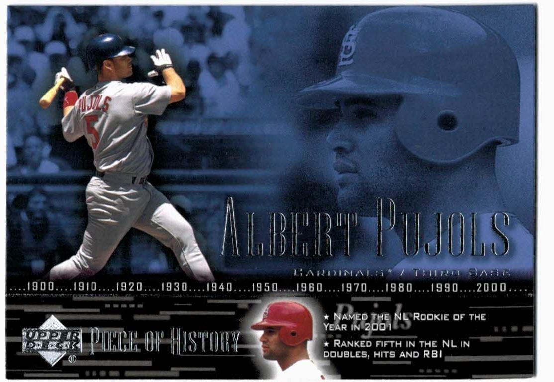 2002 UD Piece of History #55 Albert Pujols