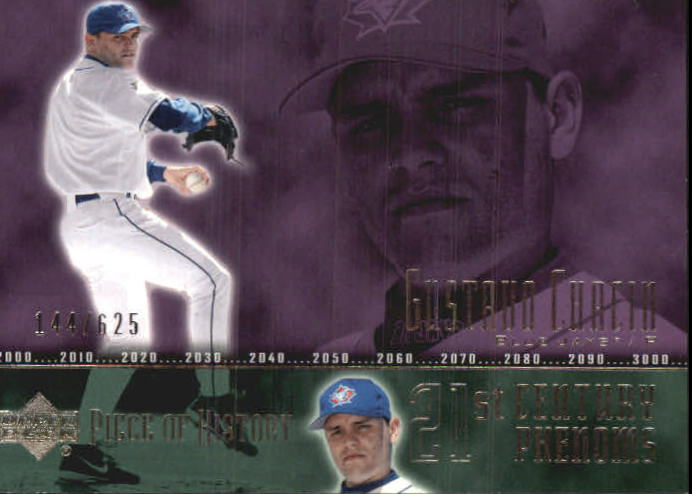 2002 UD Piece of History #96A Gustavo Chacin 21CP RC