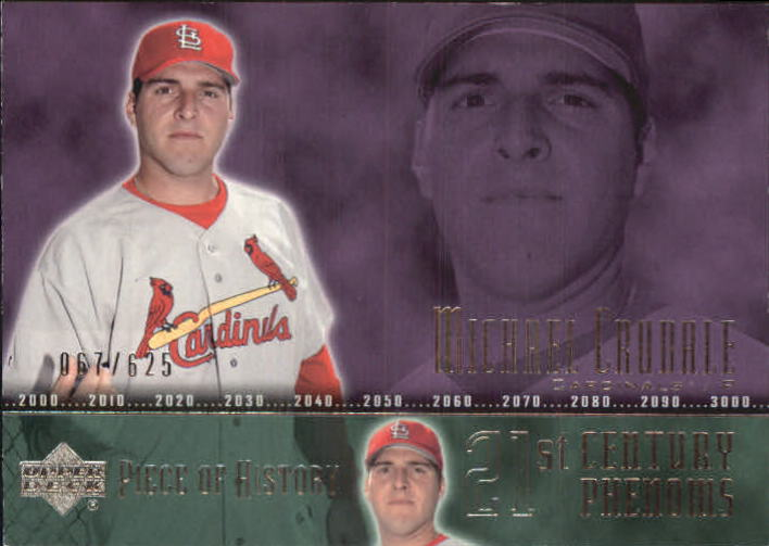 2002 UD Piece of History #100A Michael Crudale 21CP RC