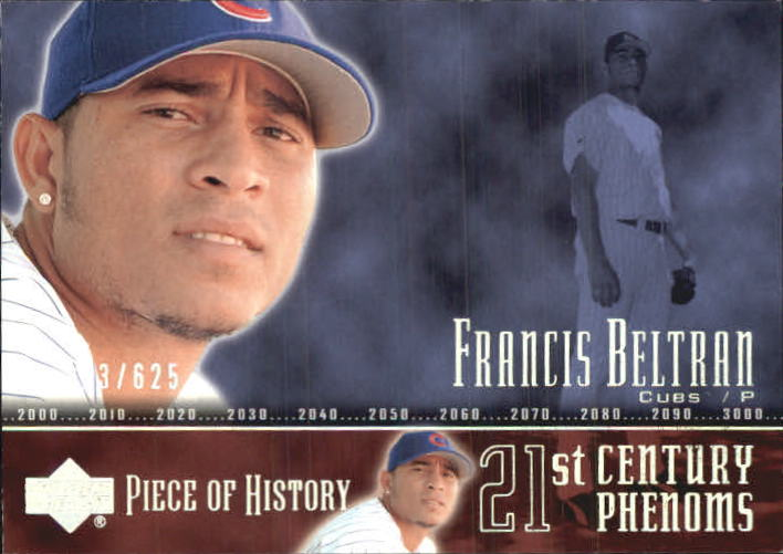 2002 UD Piece of History #101P Francis Beltran 21CP RC