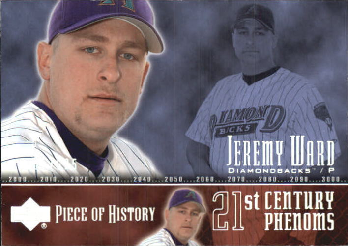 2002 UD Piece of History #104P Jeremy Ward 21CP RC