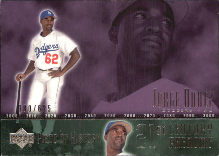 2002 UD Piece of History #108A Jorge Nunez 21CP RC