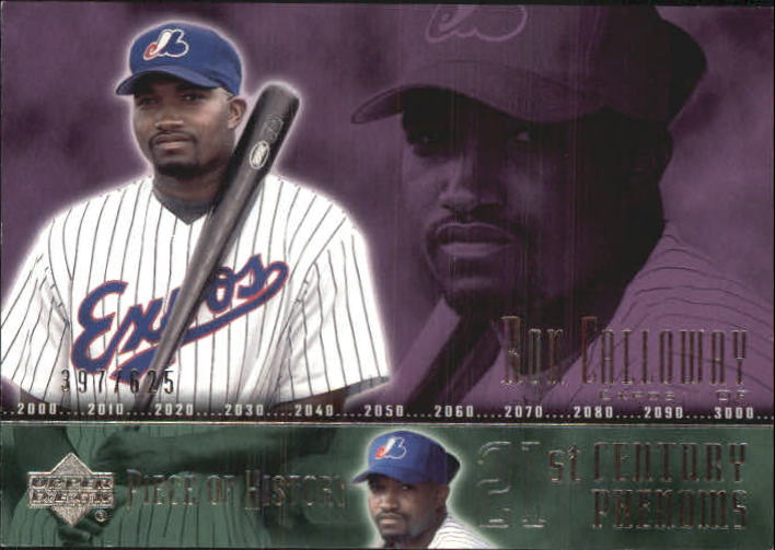 2002 UD Piece of History #110A Ron Calloway 21CP RC