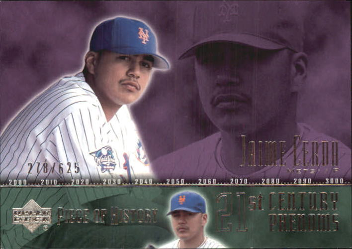 2002 UD Piece of History #115A Jaime Cerda 21CP RC