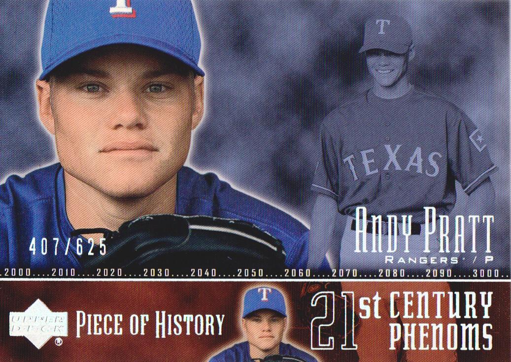 2002 UD Piece of History #124P Andy Pratt 21CP RC