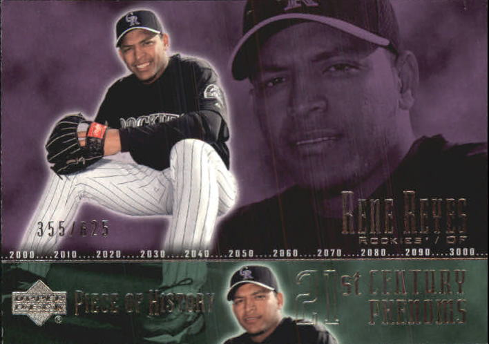 2002 UD Piece of History #126A Rene Reyes 21CP RC