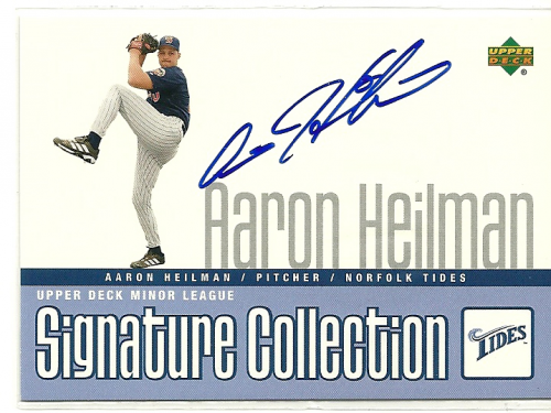 2002 UD Minor League Signature Collection #AH Aaron Heilman